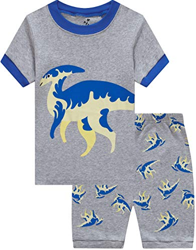 (Pajamas for Boys Summer Kids Short Dinosaur Pj Baby Clothes Children 2 Pieces Sleerwear 2t)