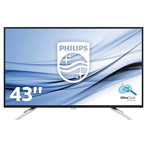 chollos oferta descuentos barato Philips Monitores BDM4350UC Pantalla para PC de 43 UHD 4K resolución 3440 x 2160 Pixels tecnología WLED Contraste 1000 1 5 ms FlickerFree Altavoces VESA Displayport HDMI
