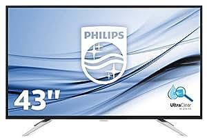 """Philips Monitores BDM4350UC/00 - Monitor de 43"""" (resolución 3840 x 2160 pixels, tecnología WLED, contraste 1200:1, 5 ms, HDMI), color negro"""
