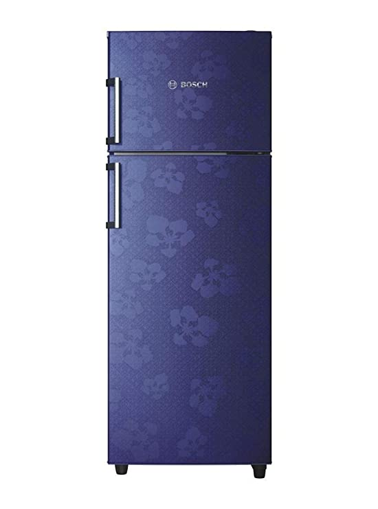 Bosch 347 L 3 Star Frost-Free Double Door Refrigerator (KDN43VU30I, Midnight Blue) Refrigerators at amazon
