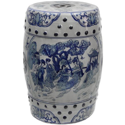 Porcelain Garden Vases - Oriental Furniture 18