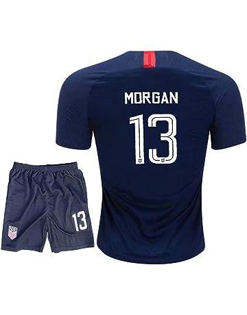 f73794d26e5 Kids Morgan USA National Alex 13 Girls 2018 19 Away Youth Jerseys Shorts  Blue