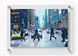 Wexel Art 21x27-Inch Double Panel Clear Acrylic Floating Frame for Up to 18x24 Art & Photos