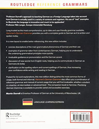 Hammer's German Grammar and Usage (Routledge Reference Grammars) (German Edition)