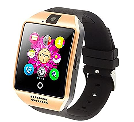 Smart Watch with Camera, Ezone Q18 Bluetooth Smartwatch with Sim Card Slot Fitness Activity Tracker Sport Watch for Android Smartphones (Gold)