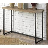 Convenience Concepts Laredo Parquet Console Table, Natural Black