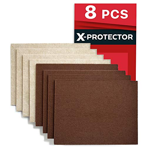 X-PROTECTOR 8 Pack Premium Felt Furniture Pads 8