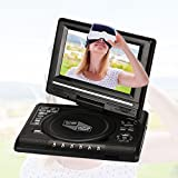 Hanbaili EU Plug 7 inch DVD Media Player, 7'' inch LCD Display HD VCD EVD DVD Media Player Portable Support U Disk