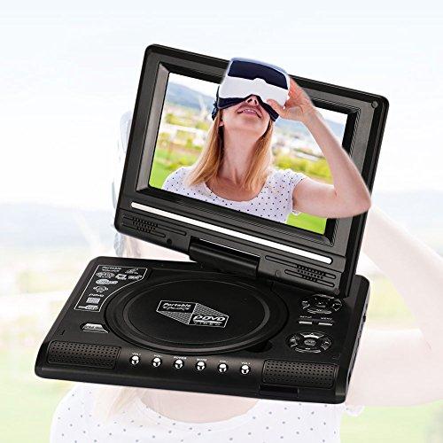 Hanbaili EU Plug 7 inch DVD Media Player, 7'' inch LCD Display HD VCD EVD DVD Media Player Portable Support U Disk by Hanbaili