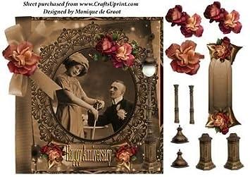 Vintage Joyeux Anniversaire By Monique De Groot Amazon Fr Cuisine