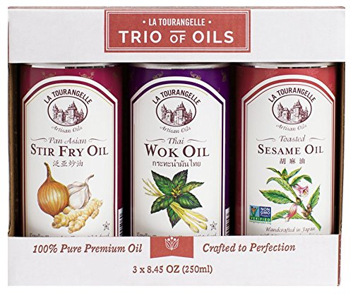 La Tourangelle, Sesame, Thai Wok, Pan Asian Stir Fry Trio of Oils, 25 Ounce