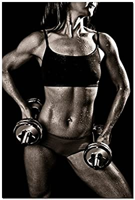 BestWeeks BodyBuilding Women Fitness Motivational Art Silk Wall Poster Gym Picture For Wall Decor 175