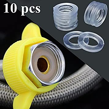 Amazon.com : 10x Replace Clear 1/2\'\' Rubber Shower Hose Washers ...