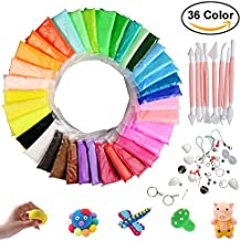 Hometall Modeling Clay Air Dry, 36 Colors DIY Ultra-light Molding Clay Soft Magic Plasticine Craft Toy with Tools, Best Kids Christmas Gifts (10oz/Pack)