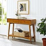 Crosley Furniture Landon Console Table in Acorn