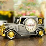 Tuersuer Warm and Beautiful Vantage Car Alarm Clock,Retro Car Style Alarm Clock with Pencil Box Children Gift Table Desk Car Shape Clock