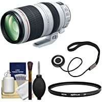 Canon EF 100-400mm f/4.5-5.6 L IS II USM Telephoto Zoom Lens with UV Filter + Cleaning Kit