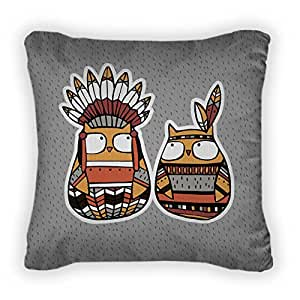 Gear New Funny Animals: American Indian Owl Throw Pillow,