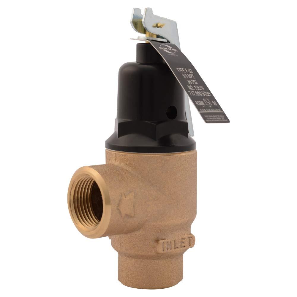 Cash Acme 13570-0030 Pressure Relief Valve, Bronze