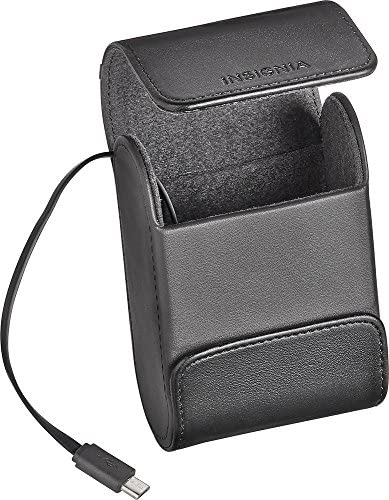 Insignia – Charging Case for Most Wireless Earbud Headphones – Black