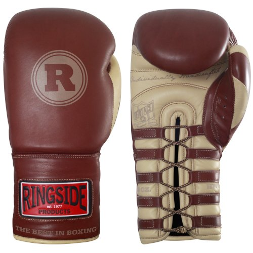 Ringside Heritage Pro Fight Gloves, Brown, 10-Ounce (Pro Fight Gloves)