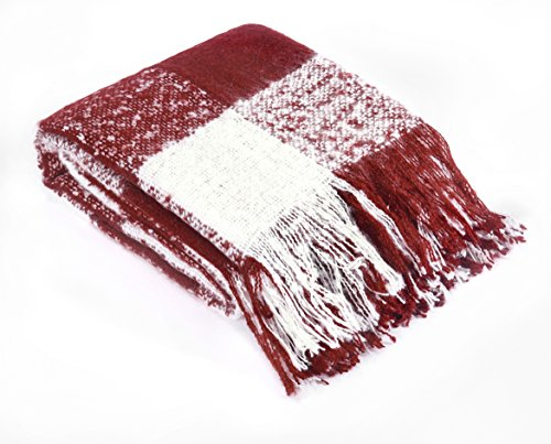 Brielle Mohair Throw, Red ()