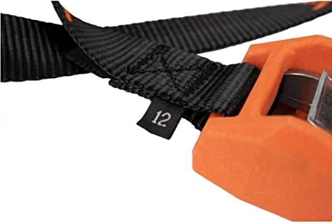 YakAttack Cam Straps Kayak Cam Straps Made in The USA with Rubber Buckle Cover Choose 12 or 15 Set of 2