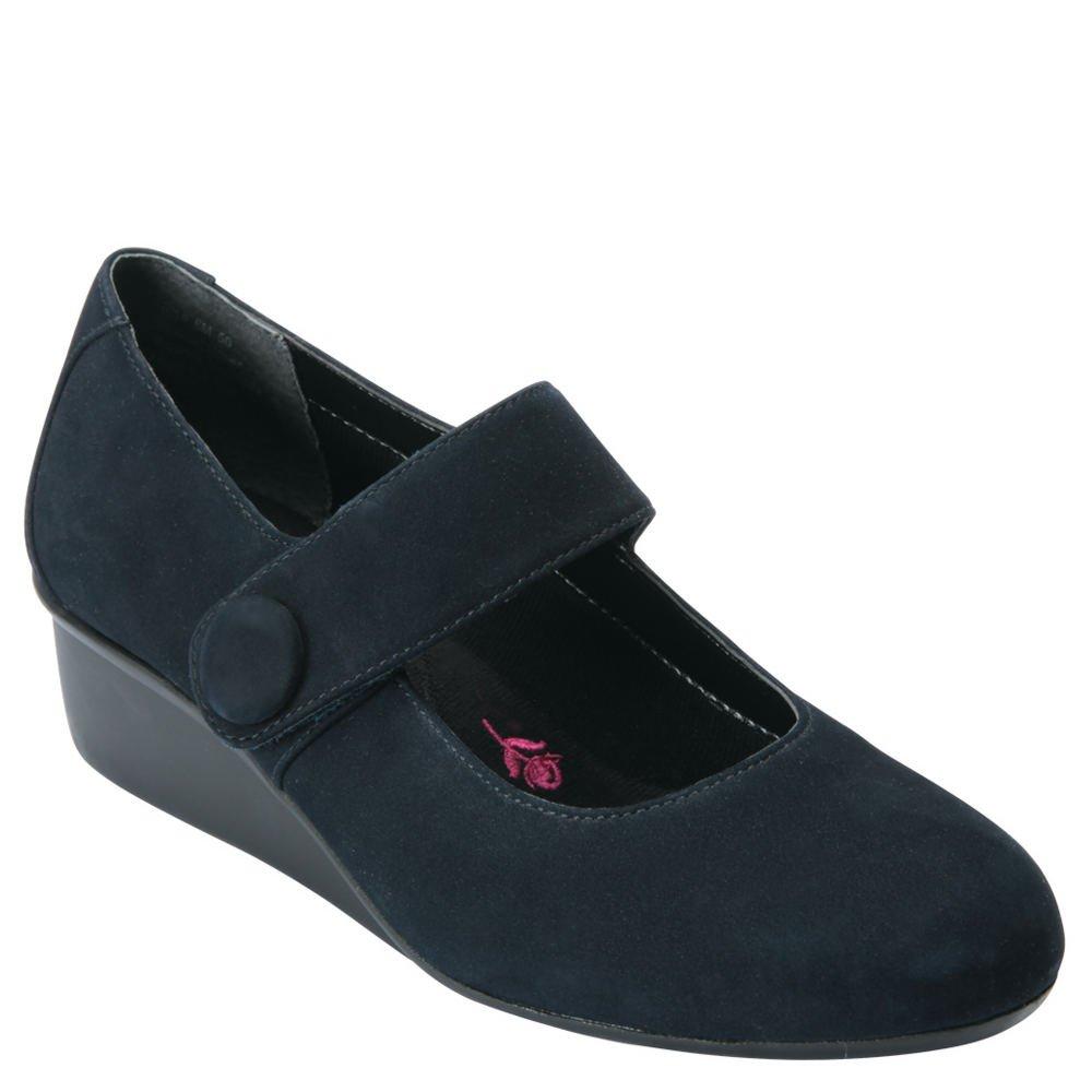 Drew Shoe 73010 Womens Elsa Shoes, Navy Nubuck - 9WW by Drew Shoe
