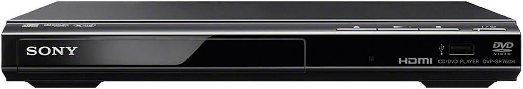 Sony Dvp Sr760h Dvd Player Cd Player Hdmi 1080p Upscaling Usb Eingang Xvid Playback Dolby Digital Schwarz Heimkino Tv Video