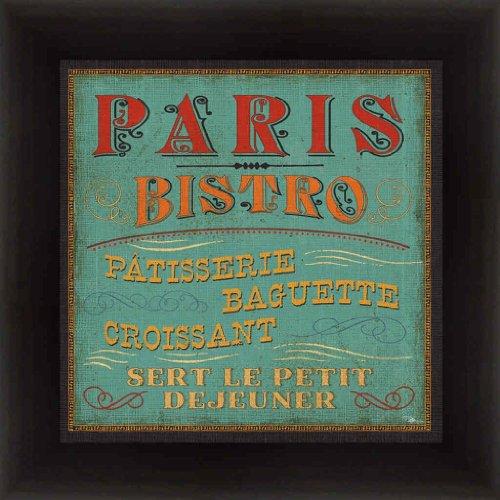 Lunchtime Color I by Pela Studio Paris Bistro Kitchen Decor Sign 14.5x14.5 (Bistro Framed)