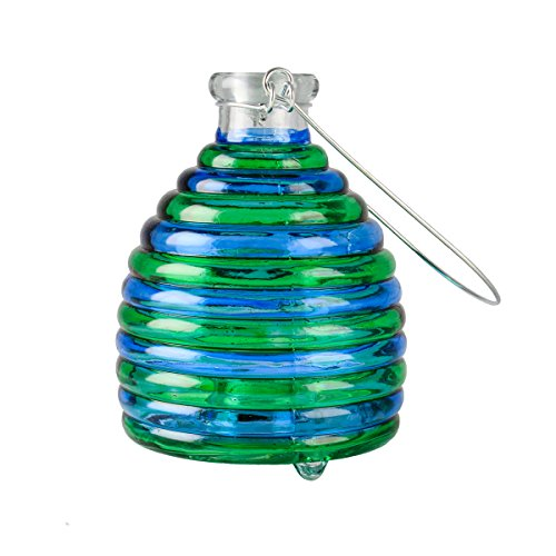 - Whimsical Garden 74156 Light Up Bee Wasp Trap, Mid Size, Green/Yellow