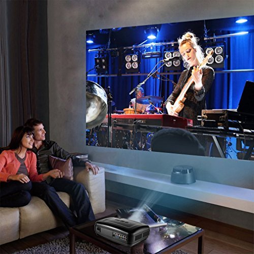 Video Projector, LESHP 1080P HD Home Theater Multimedia Office Projector, LCD 3200 Luminous Efficiency Backyard Movie Projectors Support Laptop Xbox VGA USB HDMI for iPad iPhone Android Smartphone TV by LESHP