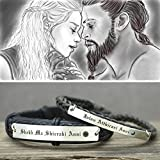 Matching Bracelets for Couples Game of Thrones Moon of My Life My Sun and Stars in Dothraki, His and Her Stainless Steel Leather Cuffs