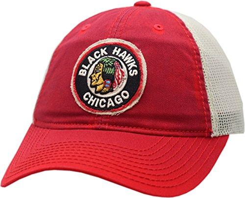 Ccm Vintage Cap - Chicago Blackhawks Snapback Vintage Logo Washed Away Mesh 12507