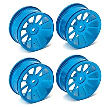 DN Aluminum Alloy RC 1:10 Racing Car Blue Color Wheel Rims With 11-Spoke (Pack Of 4)