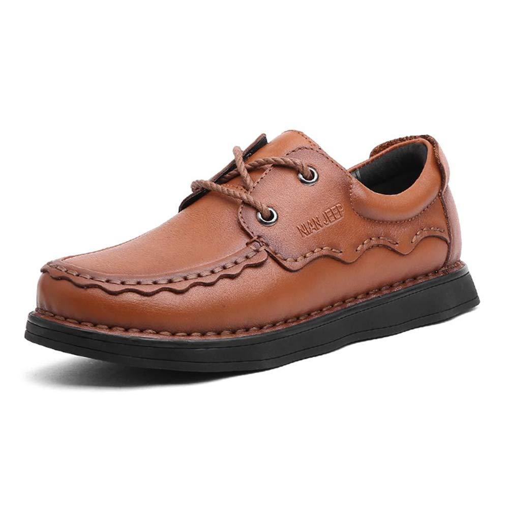 marron 7UK CYL Chaussures en Cuir pour Hommes, Chaussures Anti-dérapantes pour Hommes, Chaussures de Grande Taille, Chaussures élégantes, Douces et Confortables