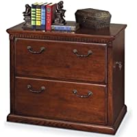 Bowery Hill 2 Drawer Lateral File Cabinet in Distressed Burnish