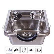 Stainless Steel Shampoo Bowl Shampoo Sink Barber Salon Brushed TLC-1167