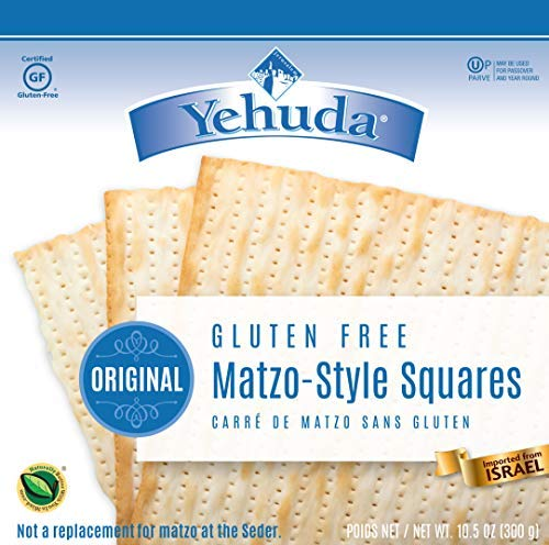 Yehuda Matzo Squares Gluten-Free 10.5 Ounce Pack of 3 by Yehuda