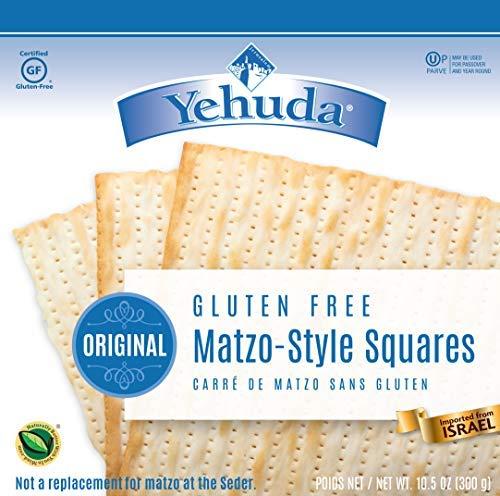 Yehuda Matzo Squares Gluten-Free 10.5 Ounce Pack of 3 by Yehuda