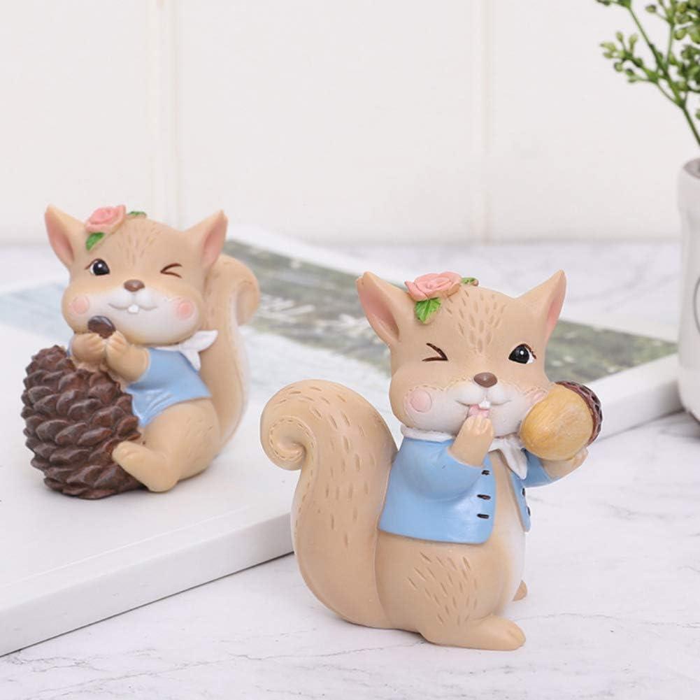 Cute Squirrel Miniature Figurine Fairy Garden Dollhouse Decor Micro Landscape XJ