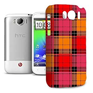 Phone Case For HTC Sensation XL - Tartan Love Glossy Cover
