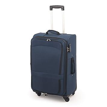 Maleta de tela mediana de 4 ruedas y candado de 3 digitos de 71 litros (Azul): Amazon.es: Equipaje