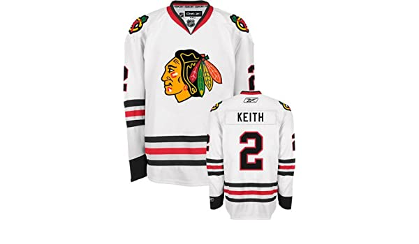 dafe56fa1 Amazon.com   Reebok Duncan Keith Jersey White  2 Chicago Blackhawks Premier  Jersey   Sports   Outdoors