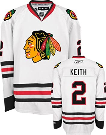 best service 6c88c 8aaab Duncan Keith Chicago Blackhawks NHL Reebok White Official ...