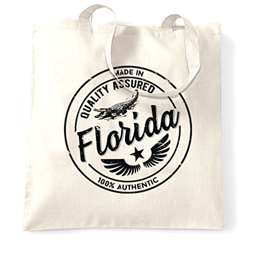 Made in Florida Miami Orlando Disney World Kennedy Distressed Shopping Carrier Tote - Orlando Disney Shopping