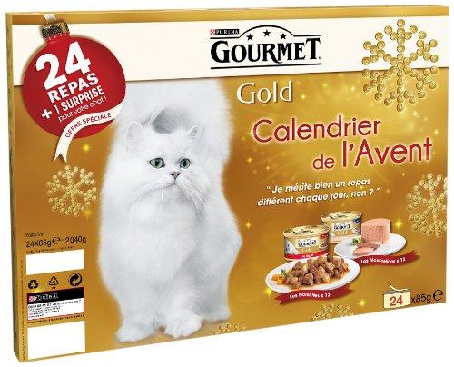 Calendrier De Lavent Pour Animaux.Gourmet Gold Calendrier De L Avent Pour Chat 24 Pieces 85 G
