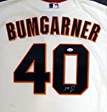 San Francisco Giants Madison Bumgarner Autographed Cream Majestic Jersey Size XL PSA/DNA