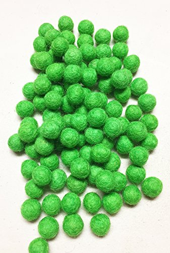 - Yarn Place Felt Wool Felted 100 Balls 10mm 1 Color Pack (Lime Green GN1)
