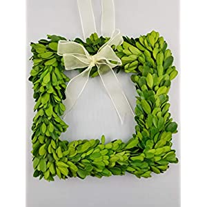 "Tradingsmith Preserved Boxwood Square Wreath 6"" 22"